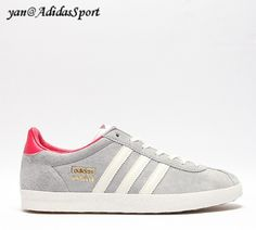 Adidas Originals Women's Gazelle And Sneakers Aluminum/Steam Red/White HOT SALE! HOT PRICE!