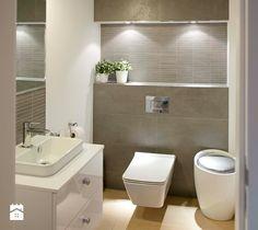Marcelin. Kuchnia sercem mieszkania. - Średnia łazienka bez okna, styl nowoczesny - zdjęcie od SHOKO.design