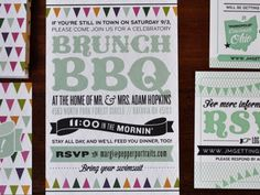 If I ever have a daughter, I hope I have the kind of house people would like to come to after her wedding for brunch....great idea.
