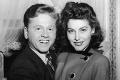 Mickey Rooney with first wife, Ava Gardner