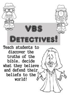 This is a five day case file that was used in our VBS class. I worked with another lady on this project; It was fun to create and I wanted to post it to share ideas! Have fun!