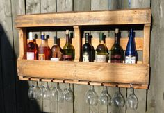 Hey, I found this really awesome Etsy listing at http://www.etsy.com/listing/157701563/repurposed-rustic-pallet-wine-rack