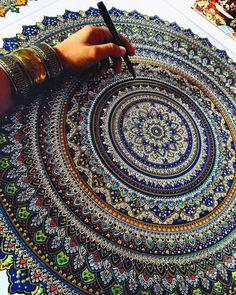 Mandala Asmahan A. Mosleh Pen And Paint 2016 via /r/Art...