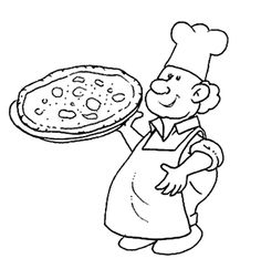 Pizza Chef Coloring Pages For Kids
