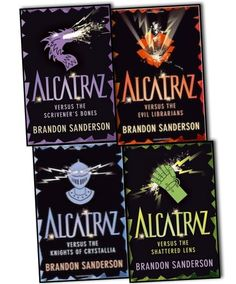 Alcatraz verses the Evil Librarians 4 Book Collection . Ages 8-14