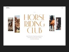 Horse Riding Club Website Interactions by tubik Website Design Layout, Web Layout, Website Design Inspiration, Graphic Design Inspiration, Best Web Design, Web Design Trends, Graphic Design Typography, Branding Design, Visual Hierarchy