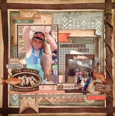 Outdoor trail Scrapbooking Layouts, Scrapbook Pages, Fish Camp, Victoria Australia, Greatest Adventure, The Great Outdoors, Kylie, Project Ideas, Projects