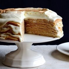 It's a fancy milk tart pancake cake for #milktartweek Milk Tart, How To Stack Cakes, Rich Cake, Pancake Stack, Pancake Cake, Batter Recipe, How To Make Pancakes, Crepe Cake, Cake Flour
