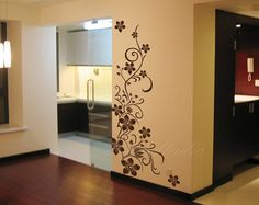 Floral Vinyl Wall Decals wall stickers home by ChinStudio on Etsy