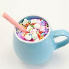 Dessert tonight was unicorn hot chocolates. The girls had so much fun making them. And apparently the wafers really do work as a straw  #unicornfood #unicorn