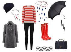 OUTFITS CON BOTAS DE LLUVIA. Más ideas en... http://www.1001consejos.com/outfits-con-botas-de-lluvia/