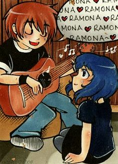 Wohoo my first SP-Fanart! It's a KAKAO/ACEO I've made for a dear friend for christmas - she is a big SP-Fan and also did put me into it. Scott Pilgrim Comic, Bryan Lee O Malley, Ramona Flowers, Nerd, Vs The World, Apple Wallpaper, Pin Art, Book Show, Cartoon Art