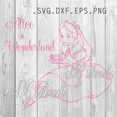 Alice in Wonderland  SVG Cutting file Clipart by SVGsilhouette
