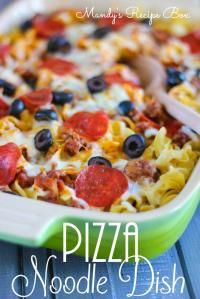 Pizza Noodle Dish on MyRecipeMagic.com. Your favorite pizza now in a pasta dish!