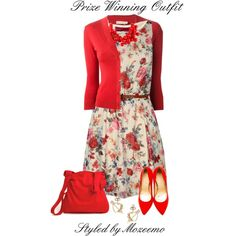 Versatile outfit for Valentine's Day and the Spring-Summer months ahead.  This set won 1st Place in the Valentine's Day group contest here: by http://www.polyvo...