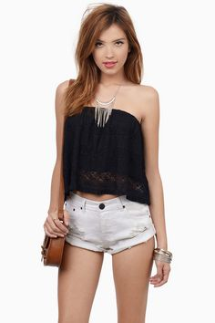 Our cute tank tops come in all of your favorite styles at Tobi: halter tank tops, ribbed, flowy & more! Short Outfits, Summer Outfits, Cute Outfits, Summer Clothes, Lacy Tops, Black Lace Tops, Aztec Print Shorts, Tube, Womens Fashion