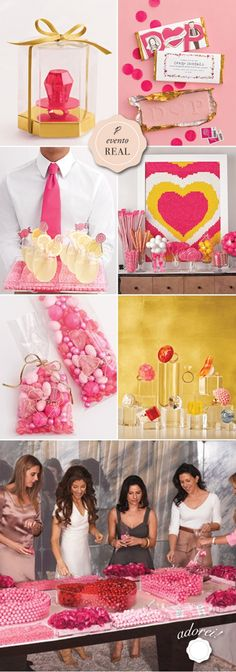 bridal shower.. I love how pink and girly it is!! @Katie Hrubec Range @Helen Palmer Sheridan @Corinne Abramowitz Kaufman