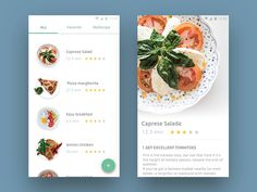 Day 040 - Recipe designed by Shunsuke Kawai. Ios App Design, Mobile App Design, Web Design, Food Design, Mobile App Ui, Layout Design, Interface Web, User Interface Design, Android Ui