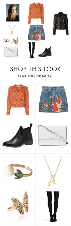 """""""Adèle Exarchopoulos"""" by dakotahaileetayloradele ❤ liked on Polyvore featuring Diane Von Furstenberg, Gucci, Michael Kors, Jane Basch, Accessorize, SPANX, Balmain and adeleexarchopoulos"""