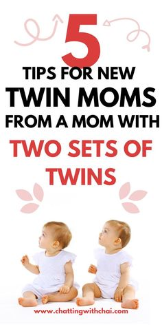 Are you expecting twins? Do you already also have a toddler or bigger kids? Then you need to read these 5 amazing tips that you would have never thought of that will keep you sane the first few months. A twin mom with two sets of twins dishes out essential tips and hacks that help new twin moms.