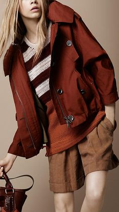 GroupAngle   Tasha23 - Collections - Burberry - CROPPED COCOON PARKA - Article 38146261