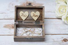 Mr Mrs Ring Box Rustic Ring Bearer Ring Holder