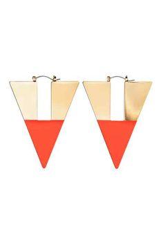 Boucles d'oreilles en triangle