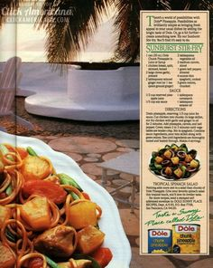 Sunburst Stir Fry & Tropical Spinach Salad (1985)