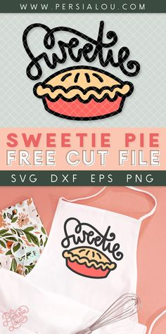 Download this free Thanksgiving SVG cut file and make your own cute Sweetie Pie apron!