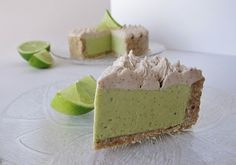 Raw Avocado Lime Pie @FragrantVanillaCake