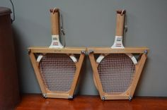 2 Paddle Rackets Sportcraft with Spaulding by bluefolkhome on Etsy