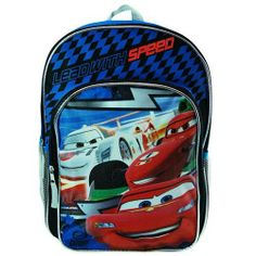 "Cars Lightning McQueen Lead with Speed 16"" Boys Backpack School Bag, $12.99"