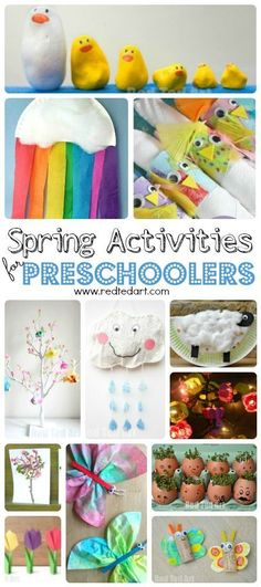Preschool Easy Spring Crafts for Preschoolers and Toddlers – wonderful Spring Activities for 2 and olds. Simple gorgeous crafts and activities that the… - Preschool Children Activities Toddler Preschool, Toddler Crafts, Preschool Crafts, Easter Crafts, Spring Crafts For Kids, Easy Crafts For Kids, Fun Crafts, Arts And Crafts, Crafts For 3 Year Olds