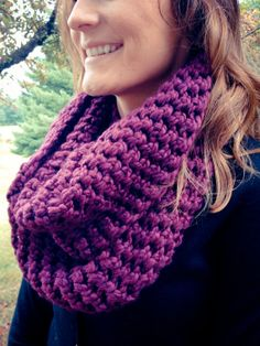 Black Cherry Cowl Neck Infinity Scarf Free Shipping crochet scarves