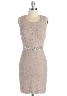 Speaking of Bewitch Dress. Has anyone ever told you how stunning you look in this lacy sheath dress? #gold #prom #modcloth