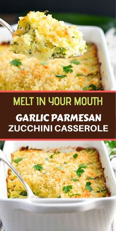 This Garlic Parmesan Zucchini Casserole is an easy side dish recipe that pairs beautifully with just about any family meal! This zucchini casserole has quickly become a favorite among the boys in my house! Zucchini Side Dishes, Vegetable Side Dishes, Side Dishes Easy, Side Dish Recipes, Zuchinni Recipes, Vegetable Recipes, Zucchini Pie, Zucchini Casserole, Casserole Recipes