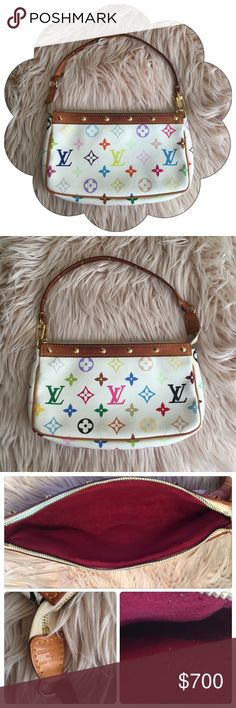 Louis Vuitton Multicolor Pochette Accessoire 100% Authentic Louis Vuitton : Gently Pre-loved : Multicolor Monogram Canvas : NO BUNDLE DISCOUNT Louis Vuitton Bags Mini Bags