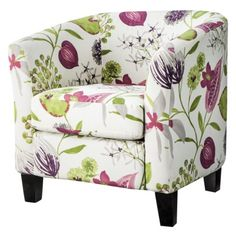 Pretty and gets some pink in there! Portland Upholstered Chair Collection