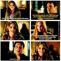 "Love this scene!! ""Who knows, maybe in a few thanksgivings from now we will have a couple of bennys of our own running around.""-Castle :D"
