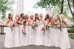 floral bridesmaids dresses, light grey bridesmaids dresses, summer wedding dress ideas  | united with love blog