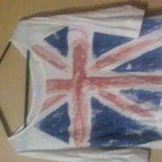 3/4 sleeve British flag tee 3/4 sleeve British flag tee Tops Tees - Long Sleeve