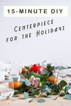 15-Minute DIY Centerpiece for the Holiday Season - Blogging Over Thyme