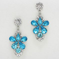 Aria Earrings in Blue Crystal on Emma Stine Limited