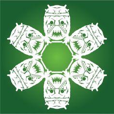 Tusken Raider Star Wars DIY Snowflake template