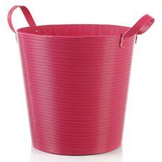 Disponible sur Boutiquedubain.com !  Panier à Linge Plastique Rose 40cm
