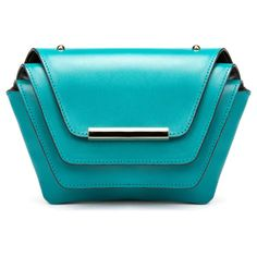 Ellia Wang - Layer Clutch in Turquoise ($505) ❤ liked on Polyvore featuring bags, handbags, clutches, blue purse, blue clutches, turquoise handbags, turquoise purse and blue handbags