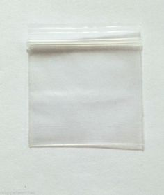 BAGGIES VERY SMALL CLEAR BAGS - 3.6cm x 4cm Resealable Plastic Poly Grip Zip Bag