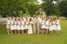 No wedding party is too large for Southern House and Garden