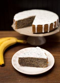 Makovo - banánový koláč