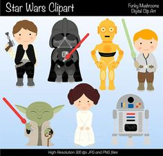 Digital Clipart - Star Wars for Scrapbooking, Invitations, Paper crafts, Cards Making, commercial use INSTANT DOWNLOAD printable